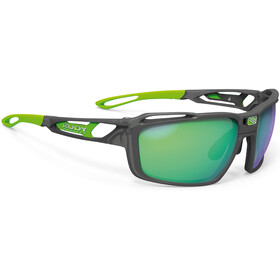 Rudy Project Sintryx Okulary rowerowe, ice graphite matte - polar 3fx hdr multilaser green